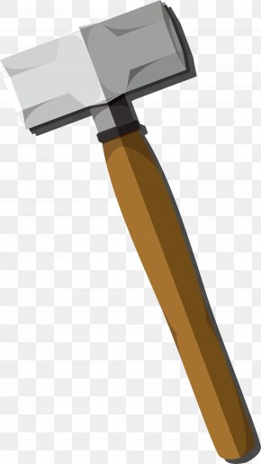 Hand Painted Grey Hammer Hammer Handle - Hammer Pickaxe PNG