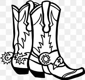 Drawings Of Cowboy Boots - Cowboy Boot Free Content Clip Art PNG