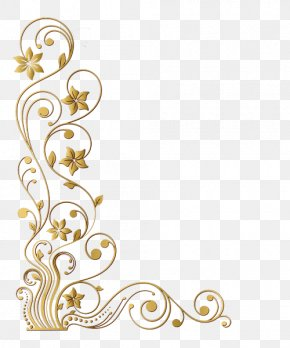 Gold Corner - Picture Frames Decorative Arts Gold Leaf PNG