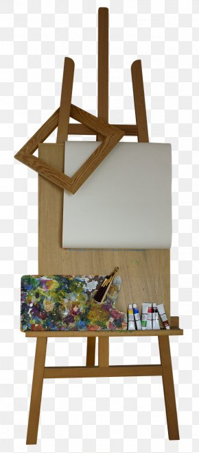 Wooden Easel Art Image Photograph PNG