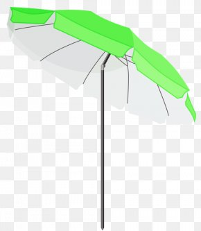 Beach Umbrella - Summer Vacation Clip Art PNG