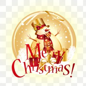 Merry Christmas - Christmas Ornament Text Snowflake Illustration PNG