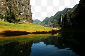 Baise Haokun Lake Scenic - Lingzhan Chengbi River Jinchuan County Lake Wallpaper PNG