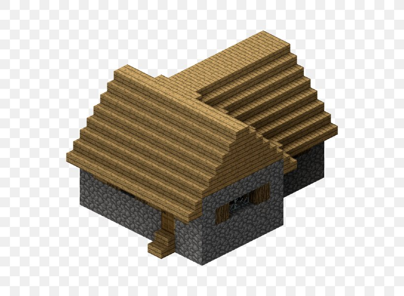 Minecraft Building House, PNG