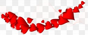 Hearts Decor PNG Clip Art Image - Valentine's Day Heart Clip Art PNG