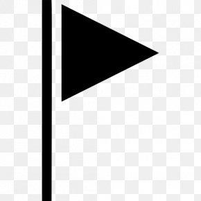 Triangular Flag - Triangle Flag Symbol PNG