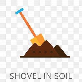 Vector Shovel - Shovel Soil Icon PNG