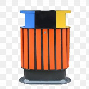 Blue Yellow Trash Can Lid - Paper Waste Container Lid Barrel PNG