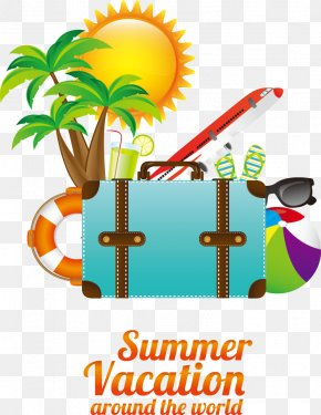 Summer Travel Elements - Vacation Travel Summer Poster PNG