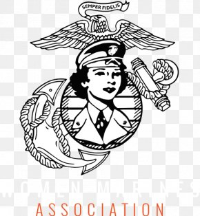United States - United States Marine Corps Women In The United States Marines Military Eagle, Globe, And Anchor PNG