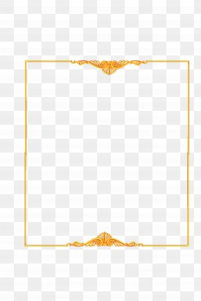 Gold Frame Material Downloaded Atmosphere - Paper Yellow Area Pattern PNG