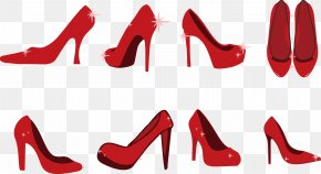 Red High-heeled Shoes - Slipper High-heeled Footwear Red Shoe Clip Art PNG
