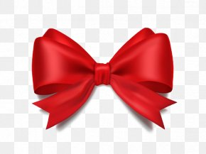 Sixth Ribbon - Ribbon Shoelace Knot Gift Bow Tie Red PNG