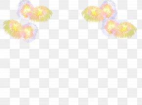 Fireworks - Yellow Petal Pattern PNG