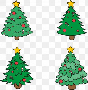 Hand-painted Christmas Tree - Pxe8re Noxebl Santa Claus Christmas Tree PNG