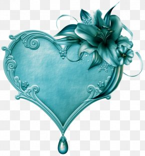 Turquoise Heart Tree - Heart Image Clip Art Necklace PNG
