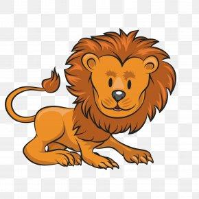 Cartoon Lion - Lion Animal Cartoon Clip Art PNG