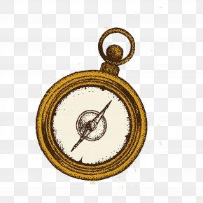 Retro Compass - Compass Euclidean Vector Vecteur PNG
