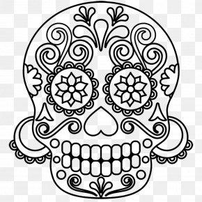 Flower - Skull And Crossbones Calavera Flower Human Skull PNG