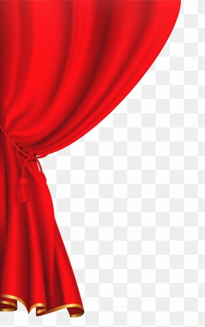 Red Curtain Clipart Image - Theater Drapes And Stage Curtains Front Curtain Clip Art PNG