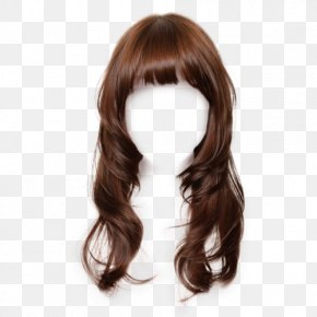 Hair - Brown Hair Wig Hairstyle Long Hair Hair Coloring PNG