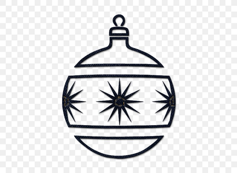 Christmas Ornament Black And White Christmas Tree Clip Art Png