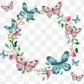 Butterfly - Butterfly Picture Frames Flower Design Scrapbooking PNG