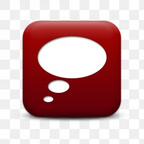 Left Thought Bubble Red - IPhone Text Messaging Speech Balloon Clip Art PNG