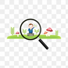 Vector Magnifying Glass And Human - Magnifying Glass Vecteur Computer File PNG