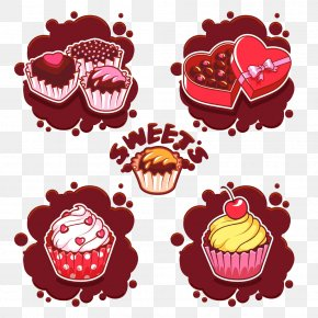 Hand-painted Chocolate Cake - Bakery Cupcake Chocolate Cake Illustration PNG