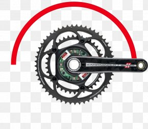 Bicycle Drivetrain Systems - Bicycle Cranks Campagnolo Cycling Power Meter Groupset PNG