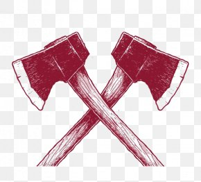 Red Axe - Hand Axe Red PNG