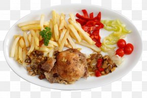 Fried Chicken And French Fries - Hamburger French Fries Fried Egg Fried Chicken Pasta PNG