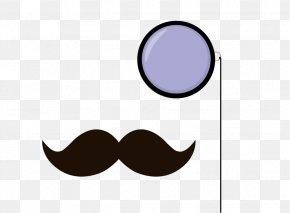Mustache Outline - Moustache Monocle Color Clip Art PNG