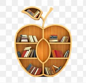 Creative Apple Bookshelf - Bookcase Concept Key Knowledge PNG