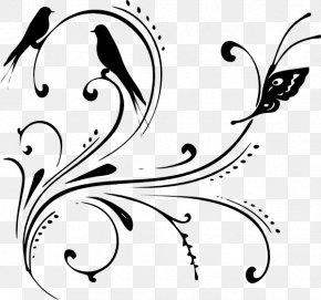 Black And White Swirl Design - Clip Art PNG