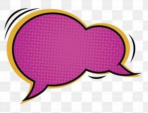 A Red Comic Dialog Box - Comics Dialog Box Dialogue Speech Balloon PNG