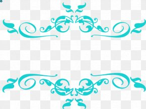Swirly Tag - Borders Clip Art Borders And Frames Image Black And White PNG