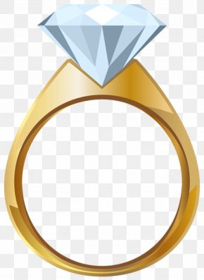 Gold Jewelry - Engagement Ring Wedding Ring Gold Clip Art PNG