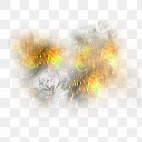 Yellow Simple Flame Effect Element - Flame Yellow Gratis PNG