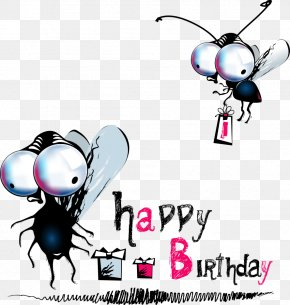 Big Eyes Insect Vector - Happy Birthday To You Greeting Card Clip Art PNG