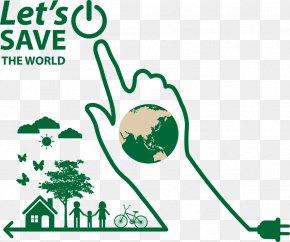 Vector Green Fingers - Green Environmental Protection Euclidean Vector Finger Icon PNG