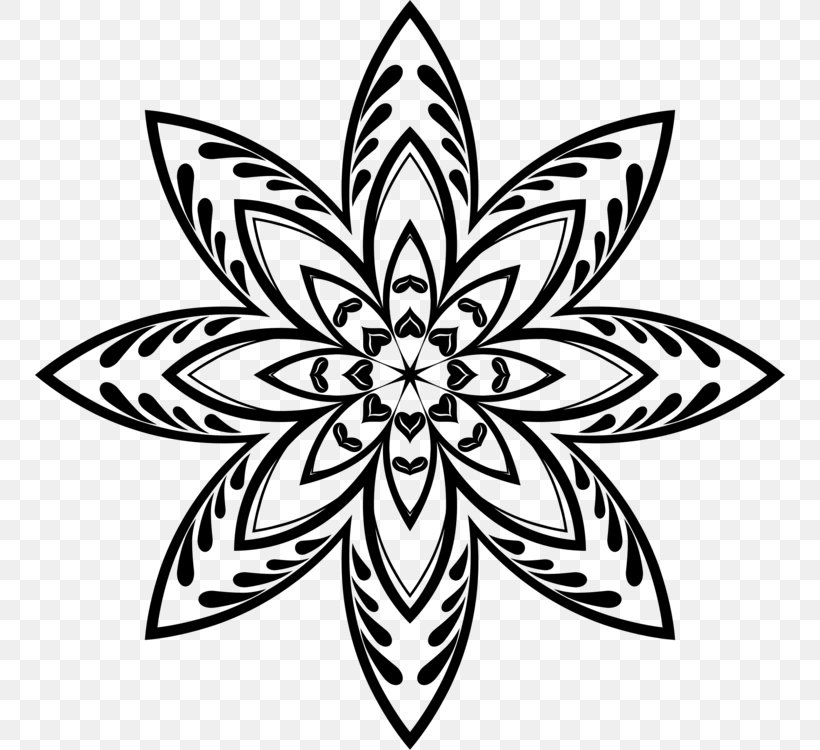 Floral Design Clip Art Vector Graphics Line Art Drawing, PNG, 750x750px, Floral Design, Abstract Art, Art, Blackandwhite, Coloring Book Download Free