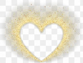 Creative Valentines Day - Yellow Heart Pattern PNG