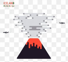 Creative Cartoon Volcano Background Vector Material - Iceland Volcano Euclidean Vector Volcanic Ash Lava PNG
