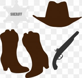 Cowboy Accessories Cliparts - Hat N Boots Cowboy Boot Clip Art PNG