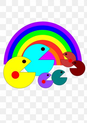 Images Of A Rainbow - Ms. Pac-Man Space Invaders Arcade Game Clip Art PNG