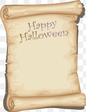 Vector Happy Halloween - Paper Halloween PNG