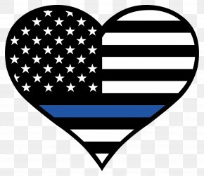 Thin - Thin Blue Line Law Enforcement Sticker Police Officer United States PNG
