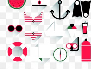 3.14 Beach Resort Icon Vector Material - Watermelon Summer Beach Icon PNG
